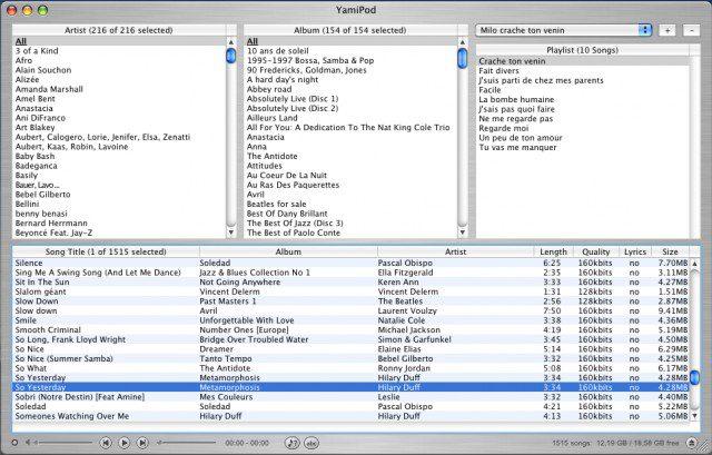 yamipod pour windows 7