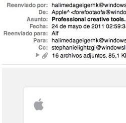 Falsos correos apple store