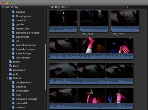 Final cut pro x libreria eventos