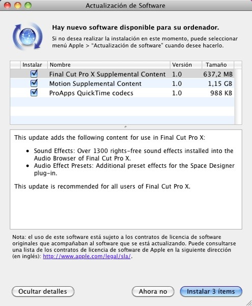 Final cut pro x descargasAdicionales