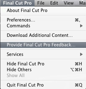 Final cut pro x feedback