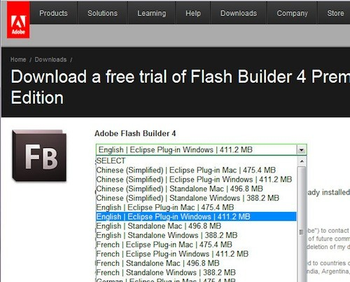 Flash builder download