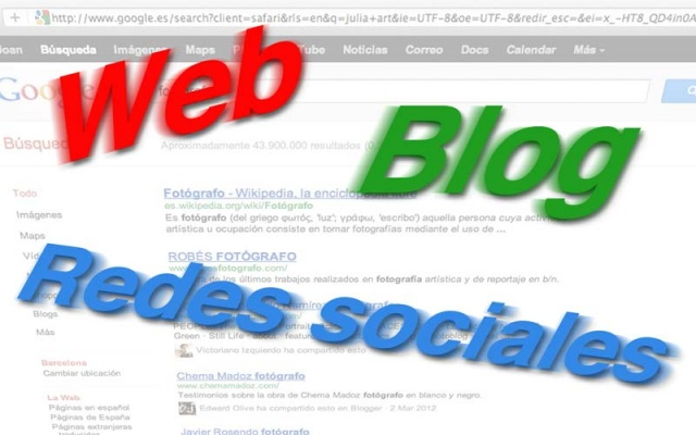 El fotógrafo y la web (I). Web, blog y redes sociales