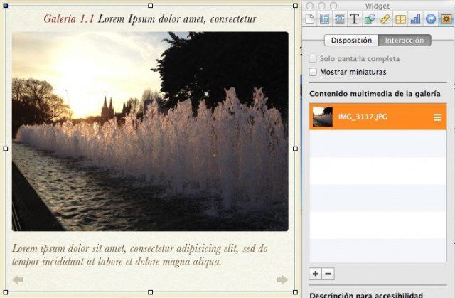 iBooks Author: Métodos para colocar imágenes a pantalla