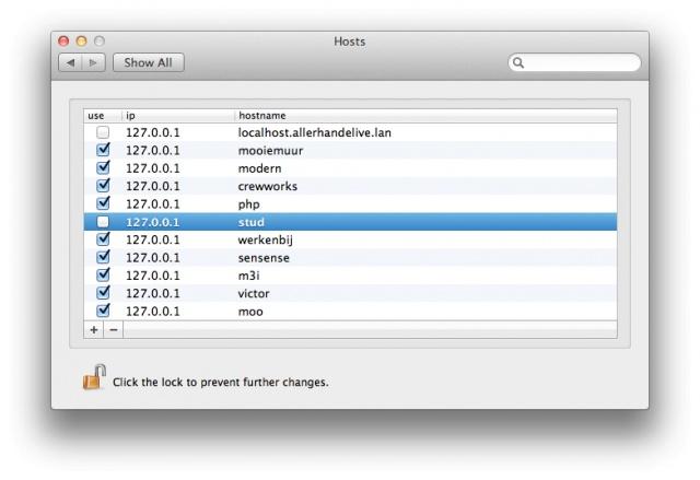 OS X: gestionar el archivo de Hosts con un Panel de Control