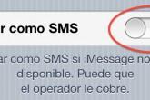 Hacer que los mensajes de iMessage no se conviertan en SMS