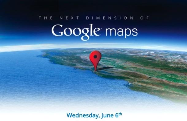 Google presentará sus nuevos mapas el 6 de Junio