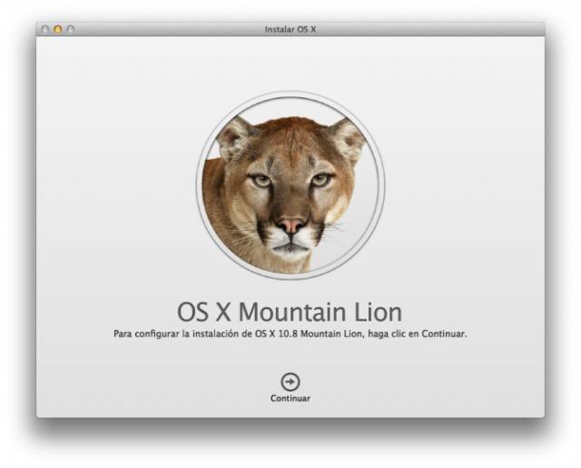 OS X 10.8 Mountain Lion disponible hoy