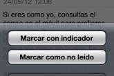 Cómo marcar un correo electrónico como no leído en iOS 6