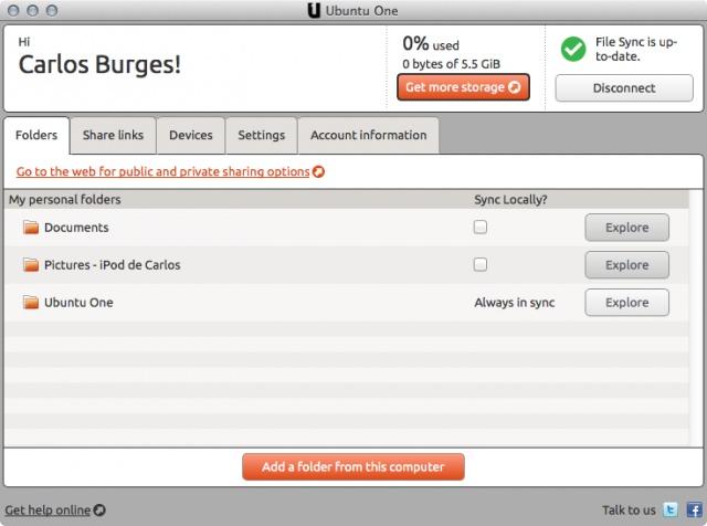Ubuntu lanza la aplicación Mac de su servicio Cloud Ubuntu One