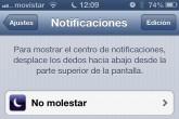 """¿Qué es """"No molestar"""" en iOS 6?"""