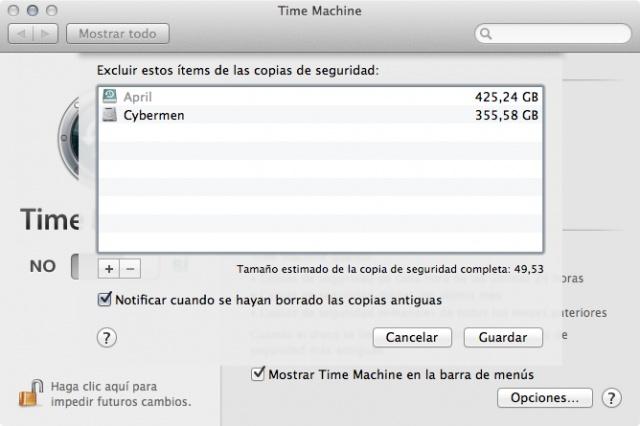 OS X: Pantallazos de submenús integrados