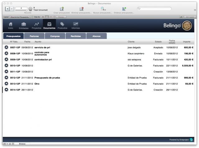 Belingo, parte II: un ERP sencillo para gestionar tu empresa