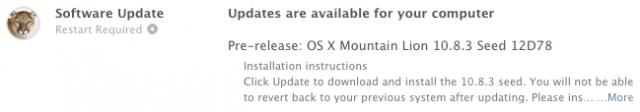 OS X 10.8.3 Mountain Lion 12D78