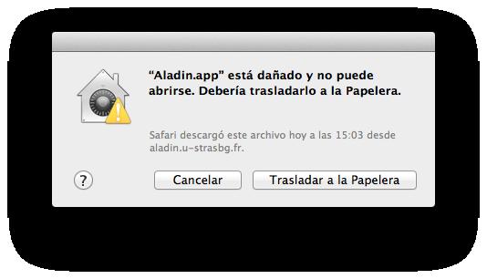 Aladin.app dañado