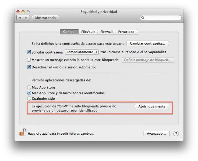 OS X: La aplicación no puede abrirse porque proviene de un