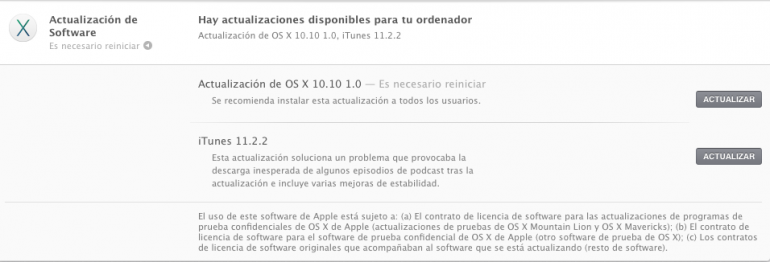 OS X 10.10 1.0 Yosemite ya disponible para desarrolladores