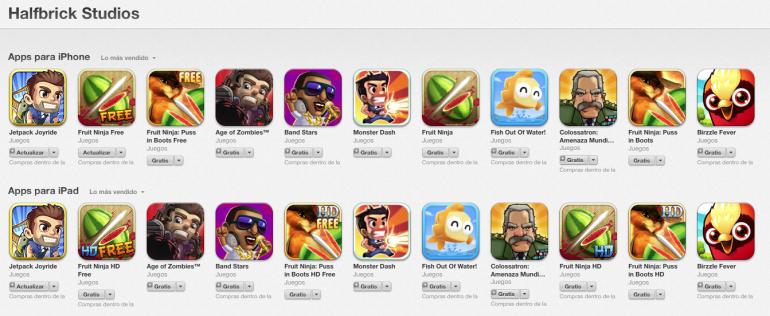 Todos Los Juegos De Half Brick Studios Para Ipad O Iphone Gratis
