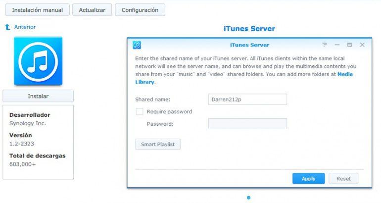 DS414 Slim de Synology, parte II: servidor iTunes y Time