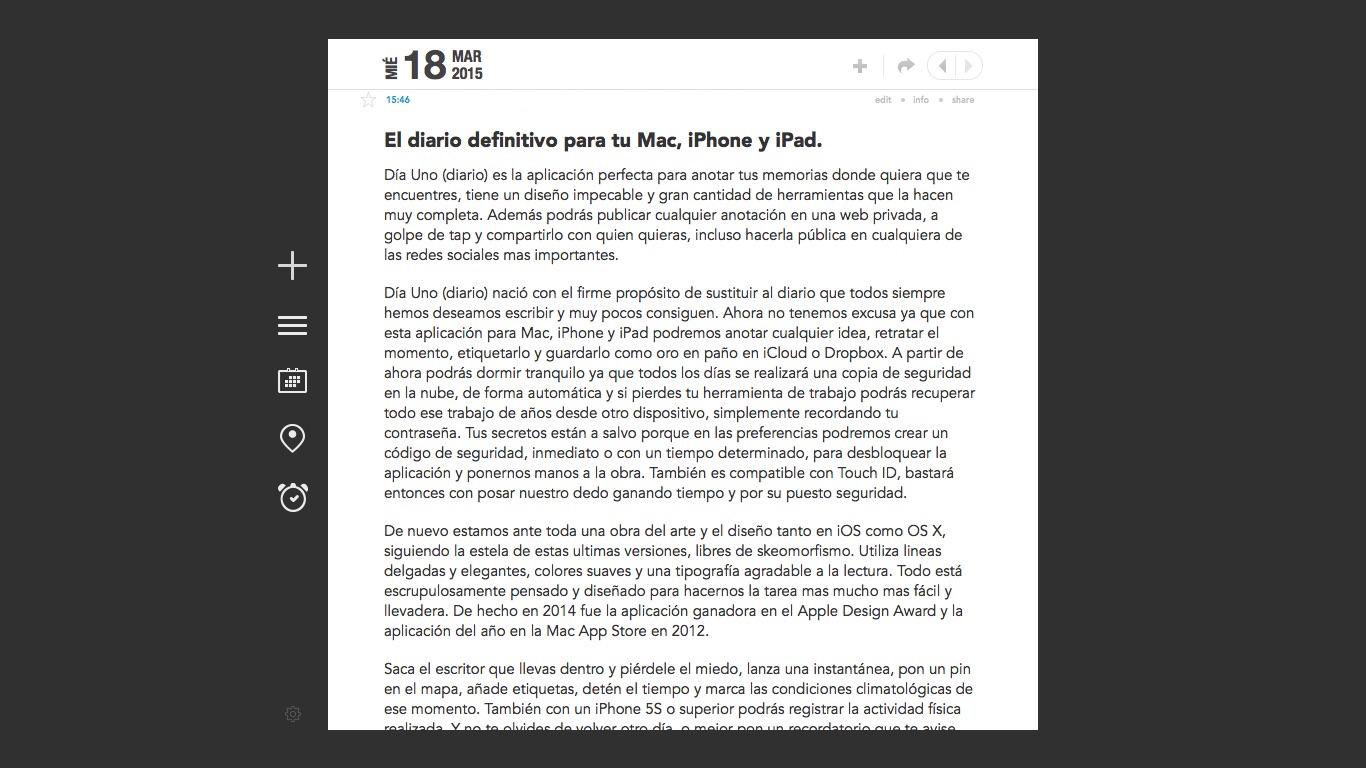 D 237 A Uno El Diario Definitivo Para Iphone Ipad Y Mac