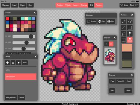 crear un pixel art