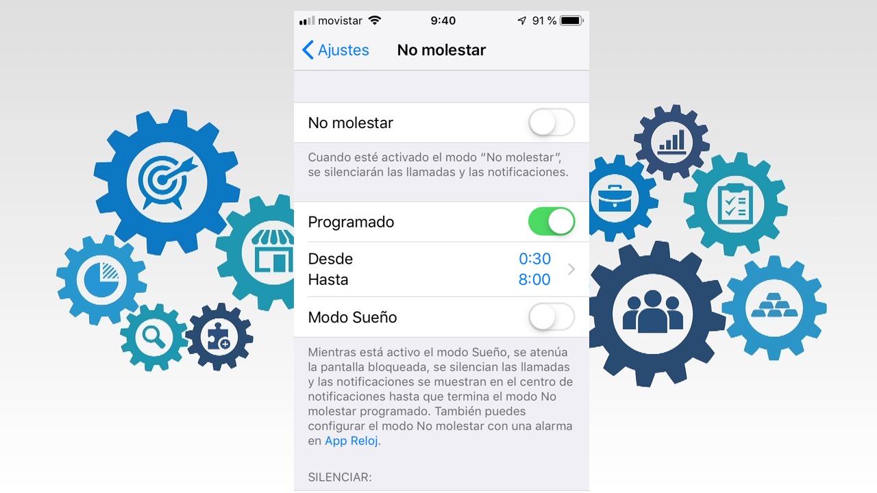Mejoras para el modo No molestar en iOS