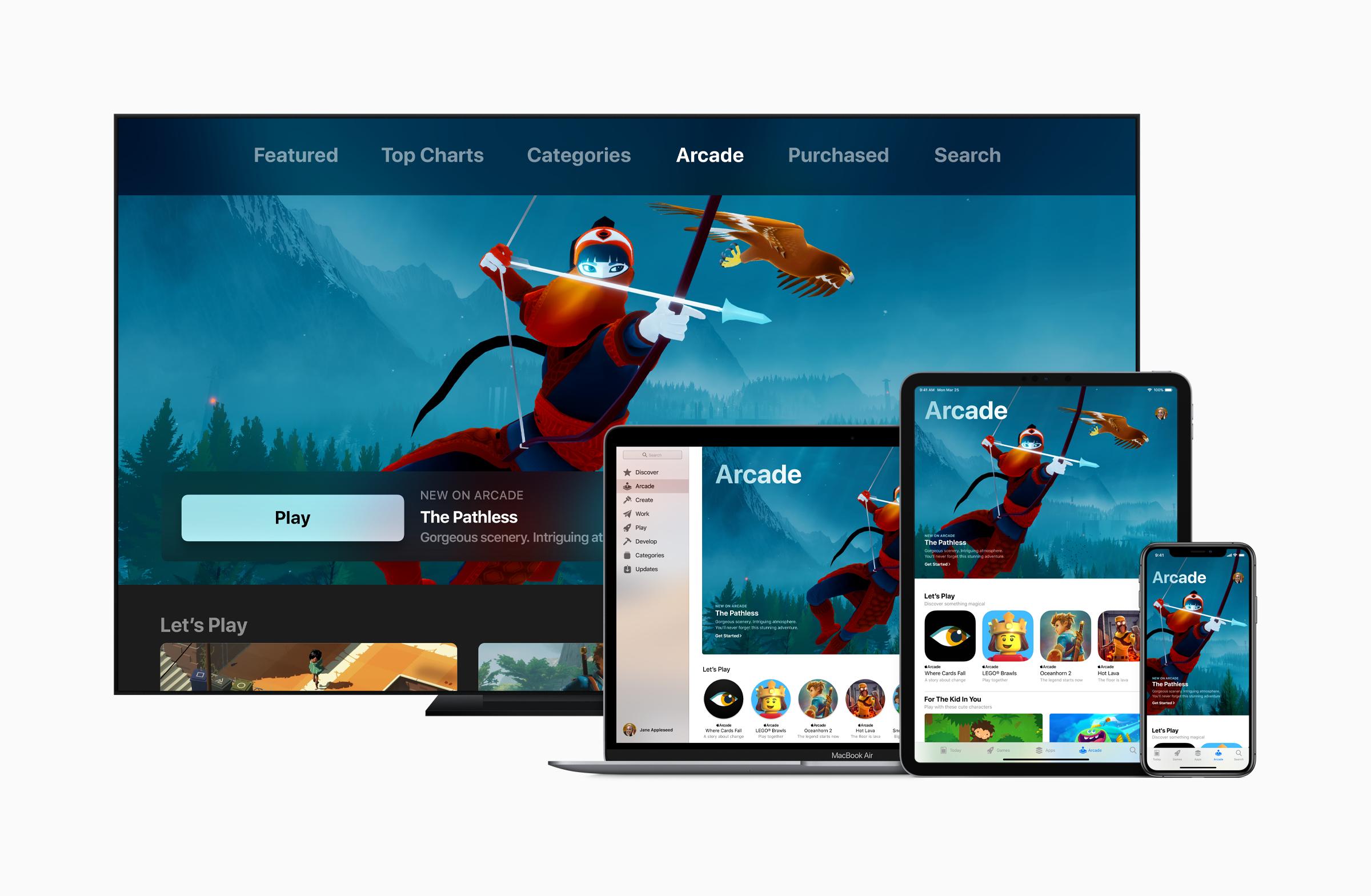 Apple Arcafe servicio de suscripción de juegos