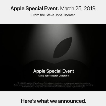 Evento especial Apple 2019-03-25 It's showtime