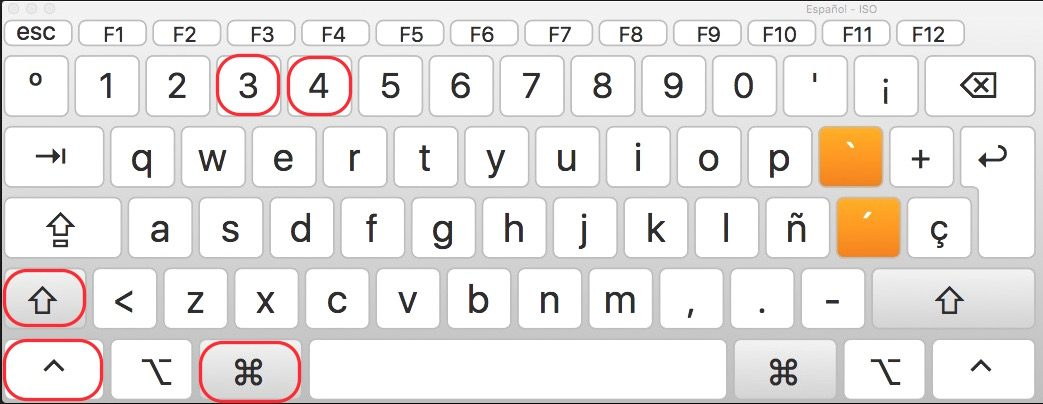teclas para captura de pantalla mac