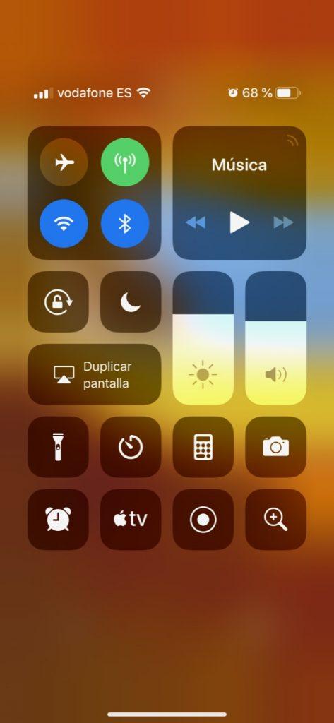 Grabacion de pantalla centro de control