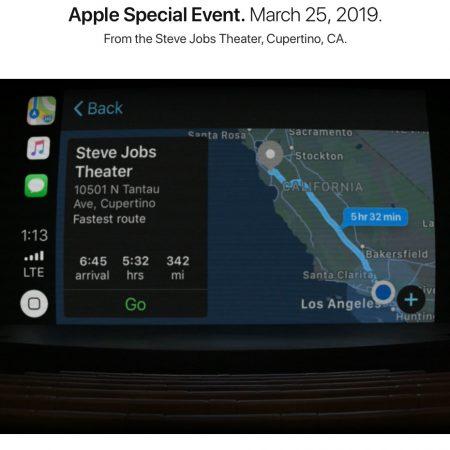 Steve Jobs Theatre Keynote Marzo 2019
