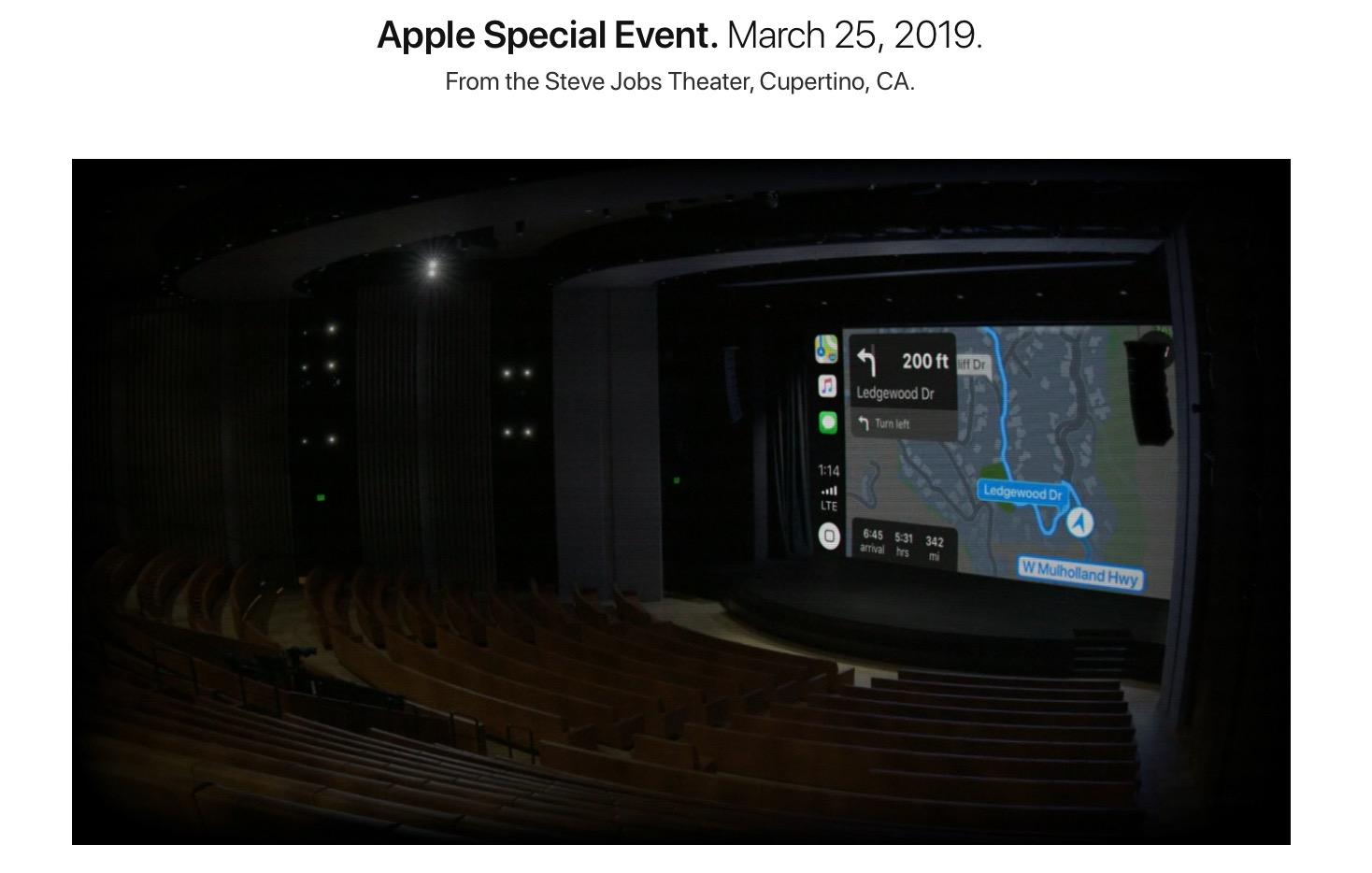 Steve Jobs Theatre Keynote Marzo 2016 Carplay