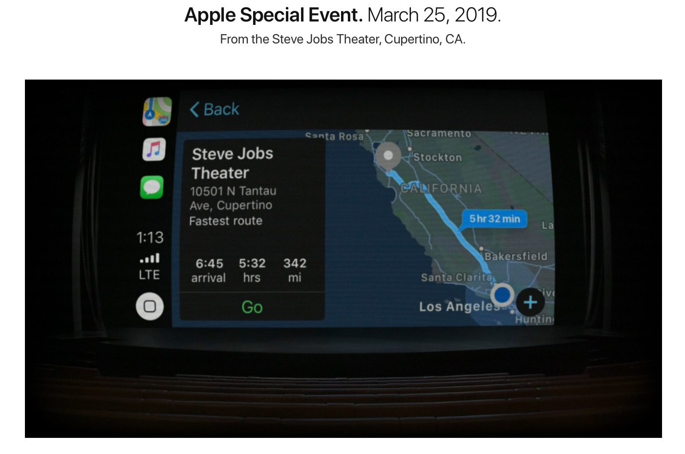 Steve Jobs Theatre Keynote Marzo 2019