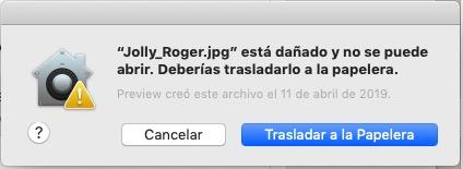 Error al abrir archivos con doble clic. Archivo creado con vista Previa
