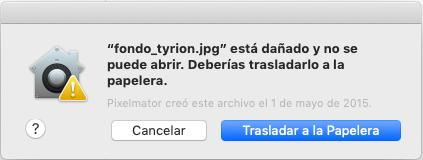 Error al abrir archivos con doble clic