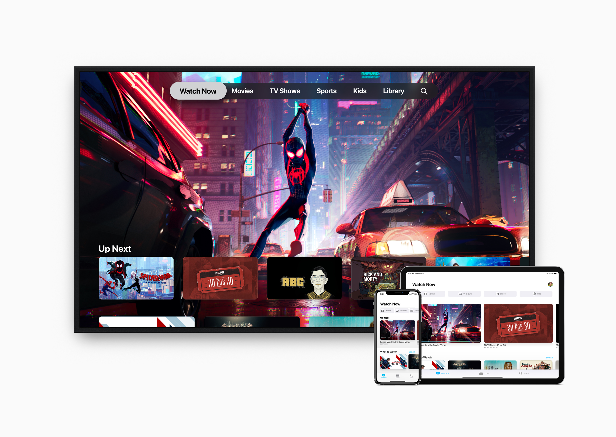 App Apple TV en Apple TV, iPad e iPhone