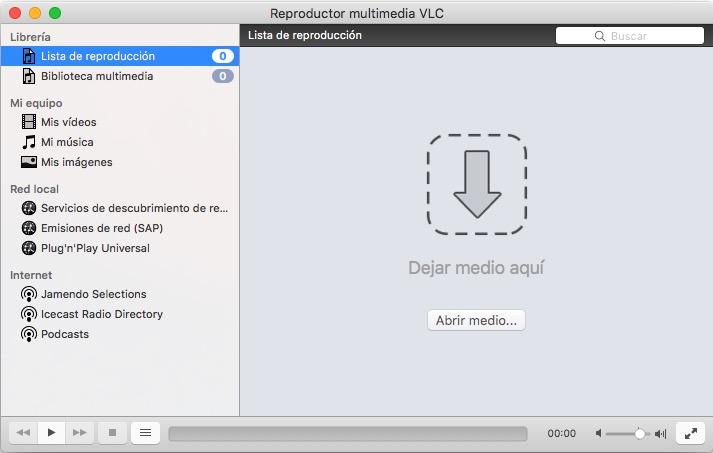 El interfaz Videolan VLC no es muy amigable