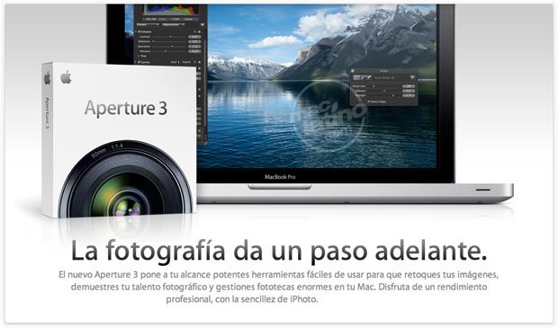 Aperture, el programa de tratamiento fotográfico de Apple
